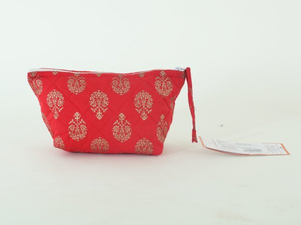 100% Cotton Printed Toilet Bag.