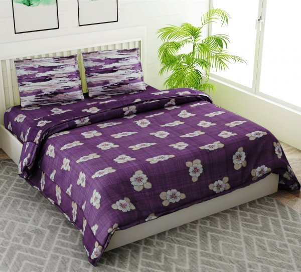 100% Cotton 144 TC Double Bedsheet Set