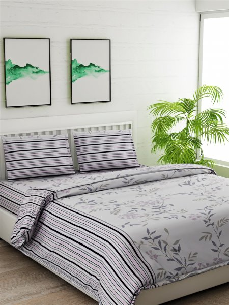 100% Cotton 180 TC Double Bedsheet Set