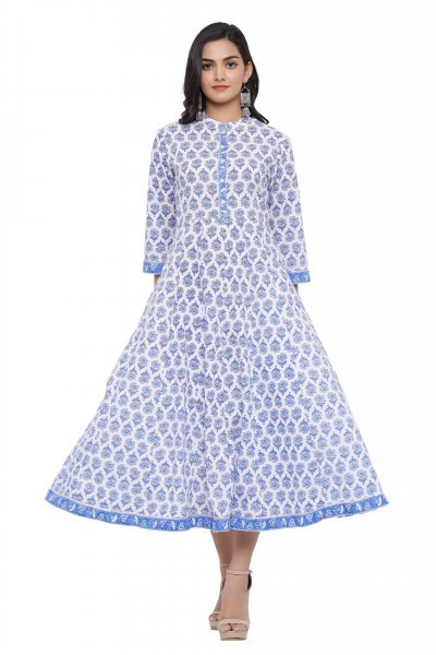 BLUE ANARKALI KURTA